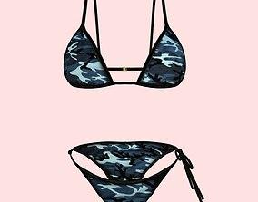 3D model Sexy Army Bikini P03