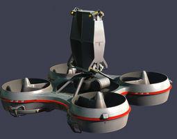 hovering radar platform 3d model max fbx
