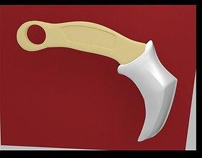 3D asset Krambit knife