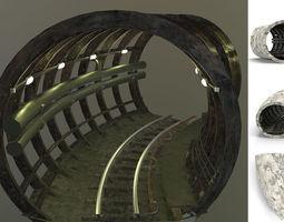 3D asset Subway tunnel C