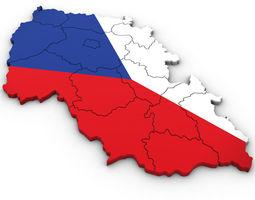 3d Political Map of the Czech Republic