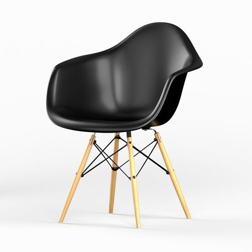 Daw Plastic Chair By Vitra Eames 3D Model