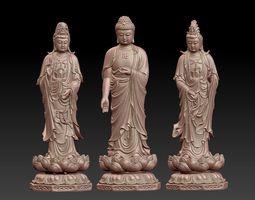 buddha and bodhisattva 3D