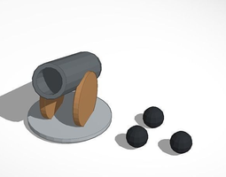 cannon game piece 3D printable model