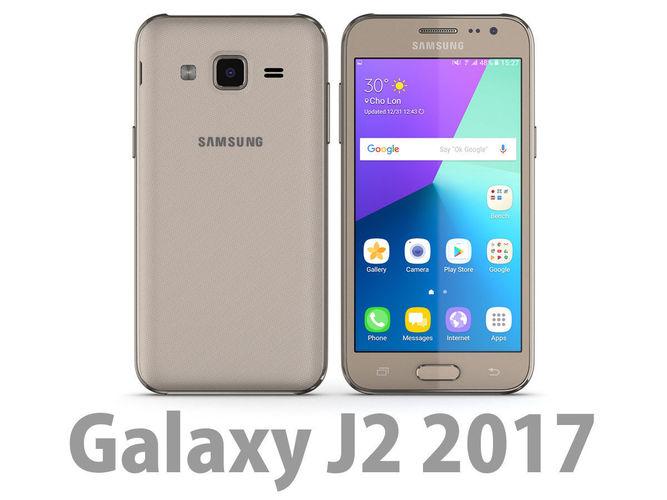 Samsung Galaxy J2 2017 Gold 3d Model Max Obj Mtl 3ds Fbx C4d Lwo Lw Lws