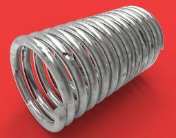 3D printable model spring car engine component