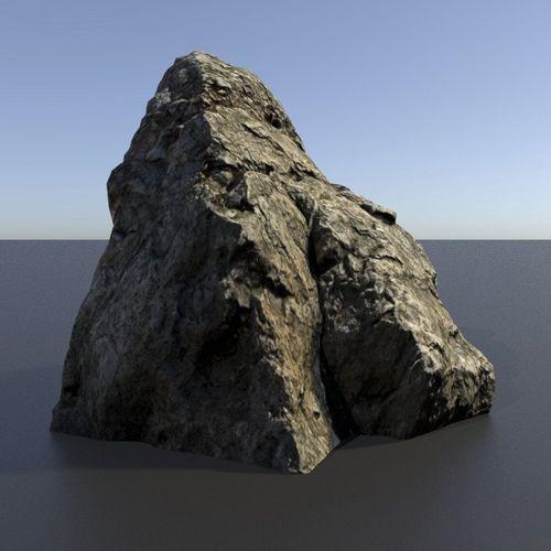 Scanned 3D Rock Assets Rock 01