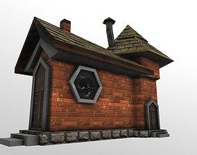 Low-poly Fantasy Castle 3D asset
