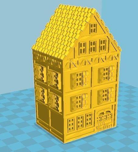 medieval house 02 3d model max stl 1