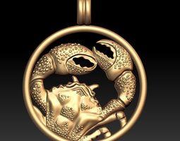 zodiac cancer The Crab 3D printable model