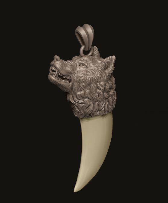 Wolf tooth nail pendant high 3d print model cgtrader wolf tooth nail pendant 3d model stl 3dm 3 aloadofball Image collections
