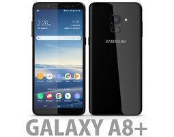 Samsung Galaxy A8 Plus 2018 Black 3D model