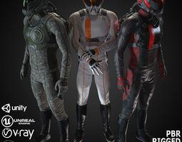 3D model MX01 Sci-Fi Suit Male