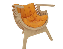 SHELL CHAIR 3D furniture comfortable