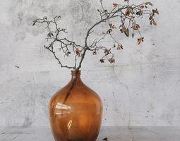 Branch in brown bottle 3D