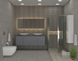3D model Guest Bathroom 01
