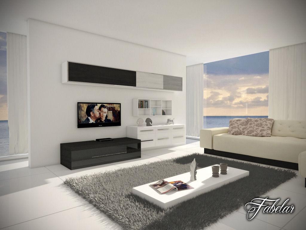 living room 12 Day night 3D model   CGTrader