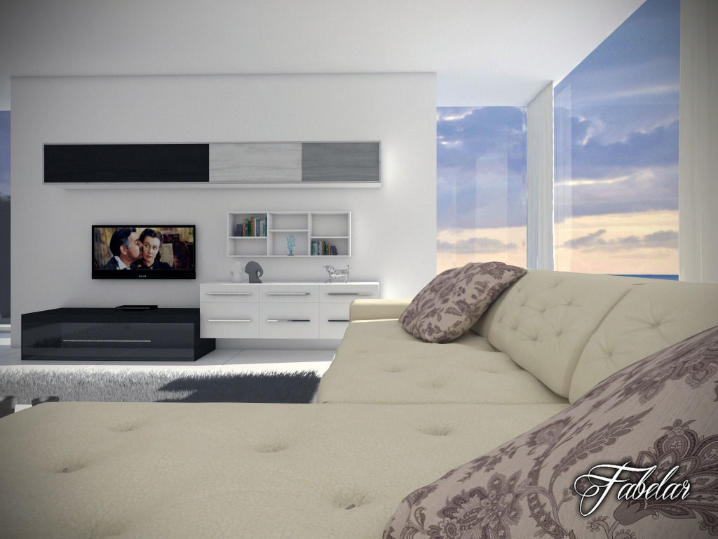 Living Room 12 Day Night 3d Model Max 3ds Fbx C4d Dae 7