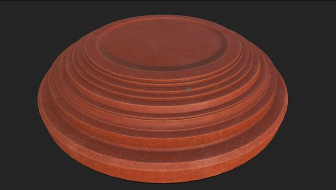clay pigeon target 3d model fbx blend 1