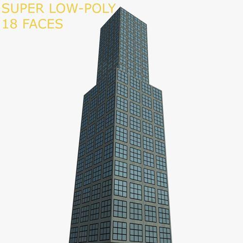 skyscraper 3d model low poly obj fbx blend mtl 10 Small Bathroom Ideas That Work