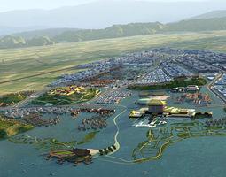 3D Coastal City 012