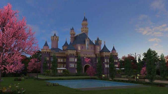 castle 3d model max tga 1