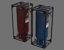 Oil Storage 1D 3D asset