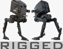 Star Wars AT-ST walker RIGGED 3D