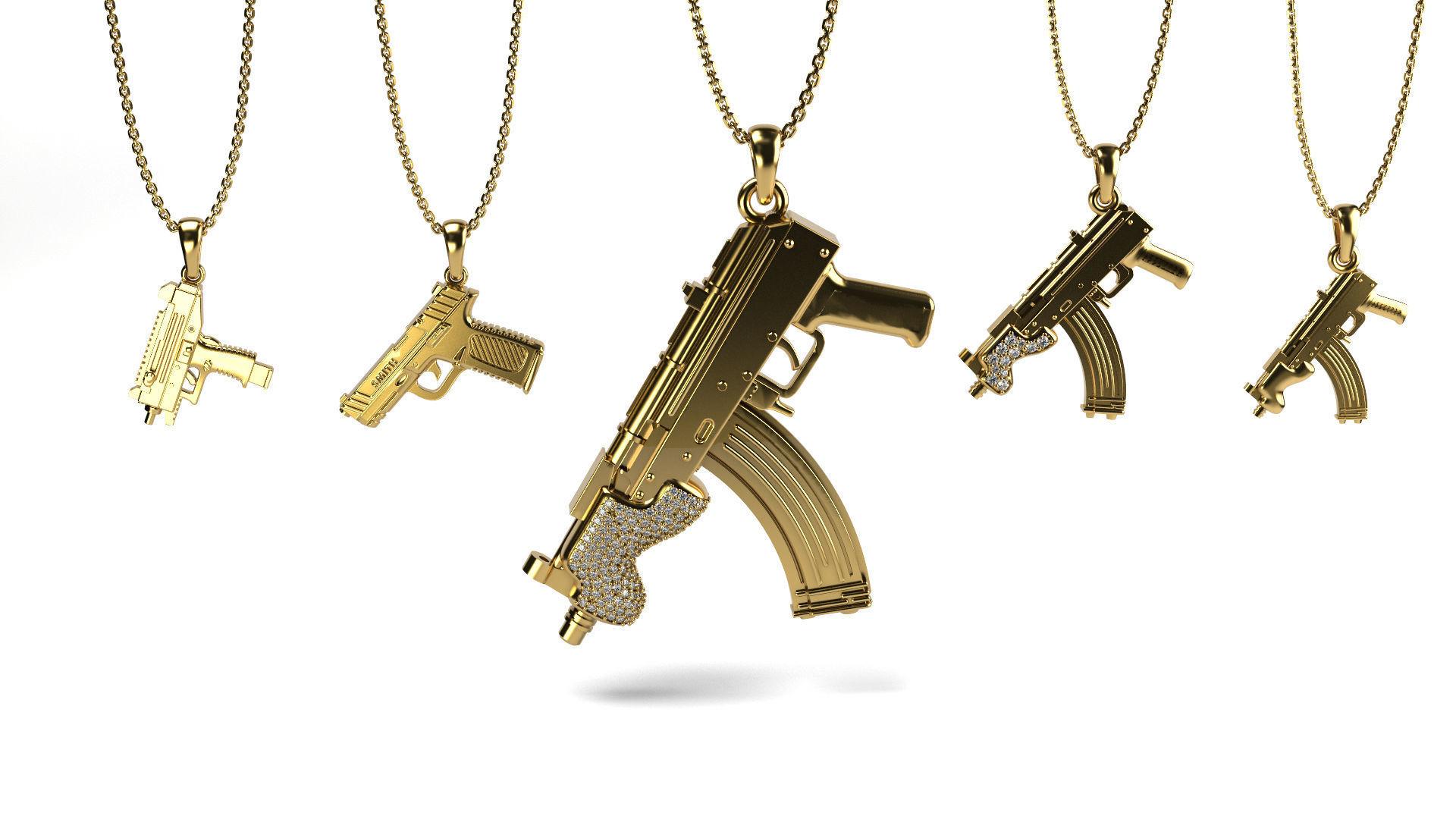 Gun Pendant bundle