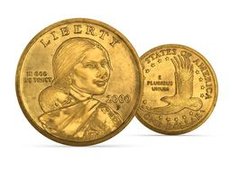 3D US Sacagawea dollar coin