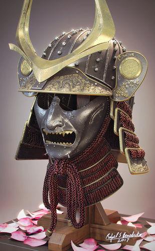 samurai helmet 3d model max obj mtl 1