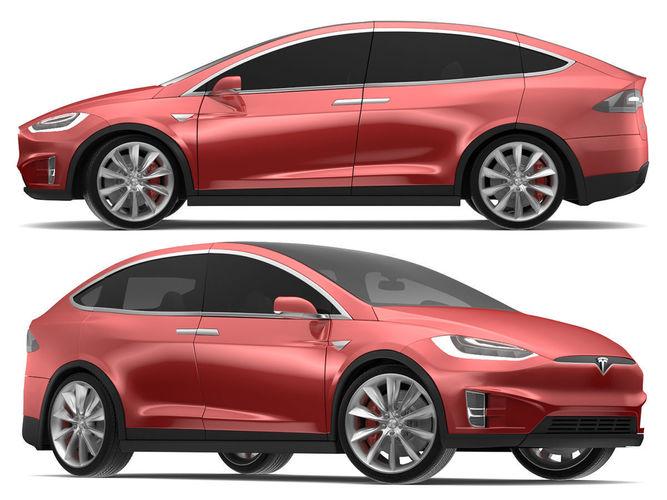 2017 Tesla X Red Multi-coat