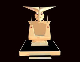 Gold Throne for a Demon 3D model low-poly