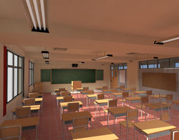3D Anime Classroom