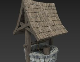 Medieval Well 3D model low-poly