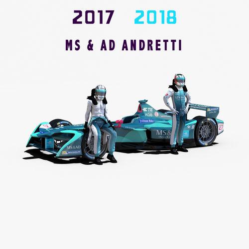 msad andretti 2017 2018 3d model max obj mtl 3ds fbx c4d ma mb 1