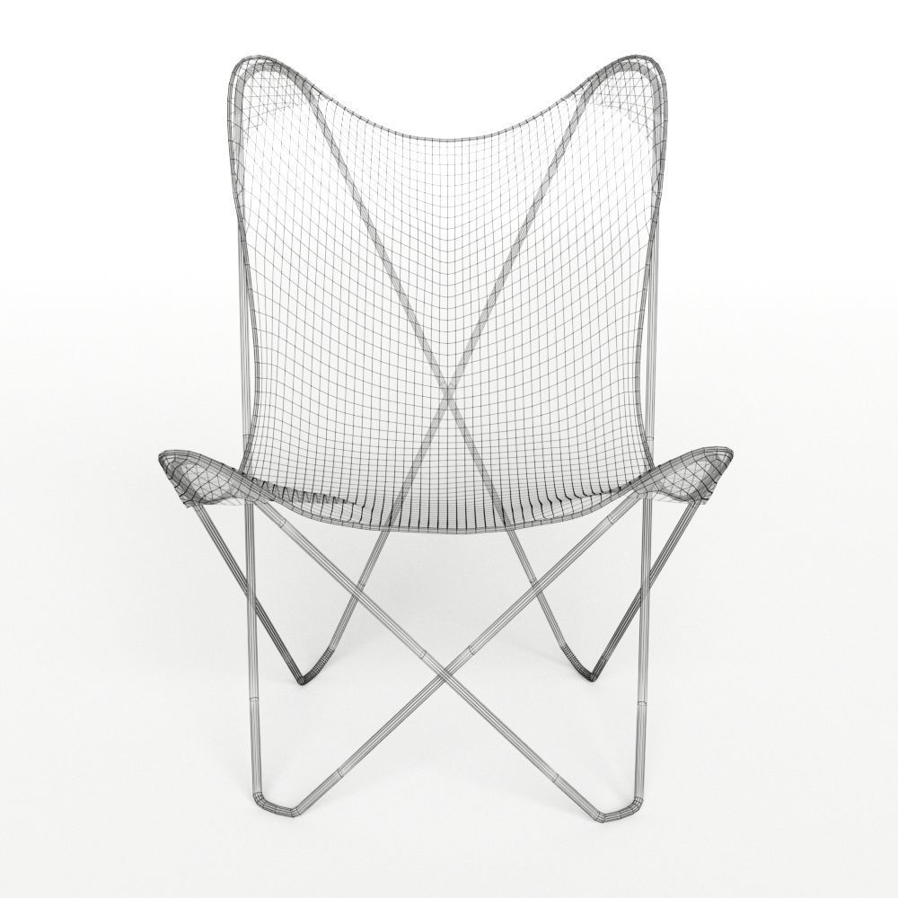 Wonderful ... Canvas Butterfly Chair 3d Model Max 6 ...
