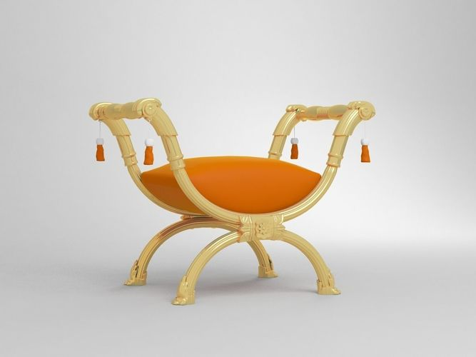 Bench Tabouret Furniture French Chair Frame 3d Model Max Obj 1 ...
