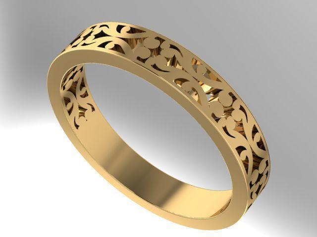 Filigree Wedding Band 3D Print Model