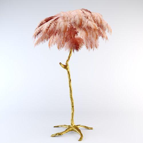 ostrich feather  lamp 3d model max obj mtl 1