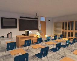 Classroom university 3D model