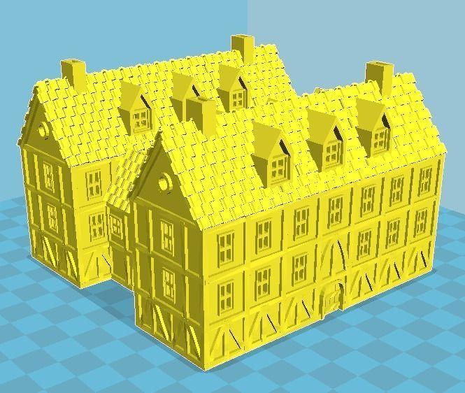 Medieval House 16 3D print model