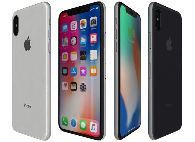 apple iphone x all colors 3d model max obj 3ds fbx c4d lwo lw lws 1
