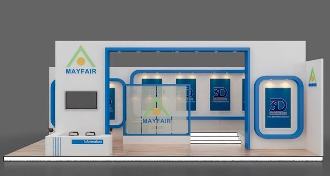3d Exhibition Stall Design : D model exhibition stall design show cgtrader
