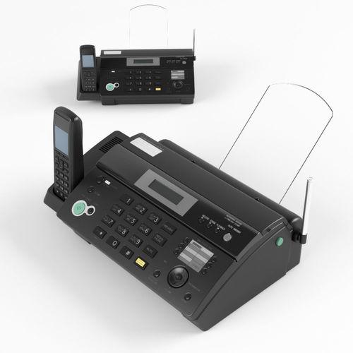 fax phone black 3d model max obj mtl fbx 1