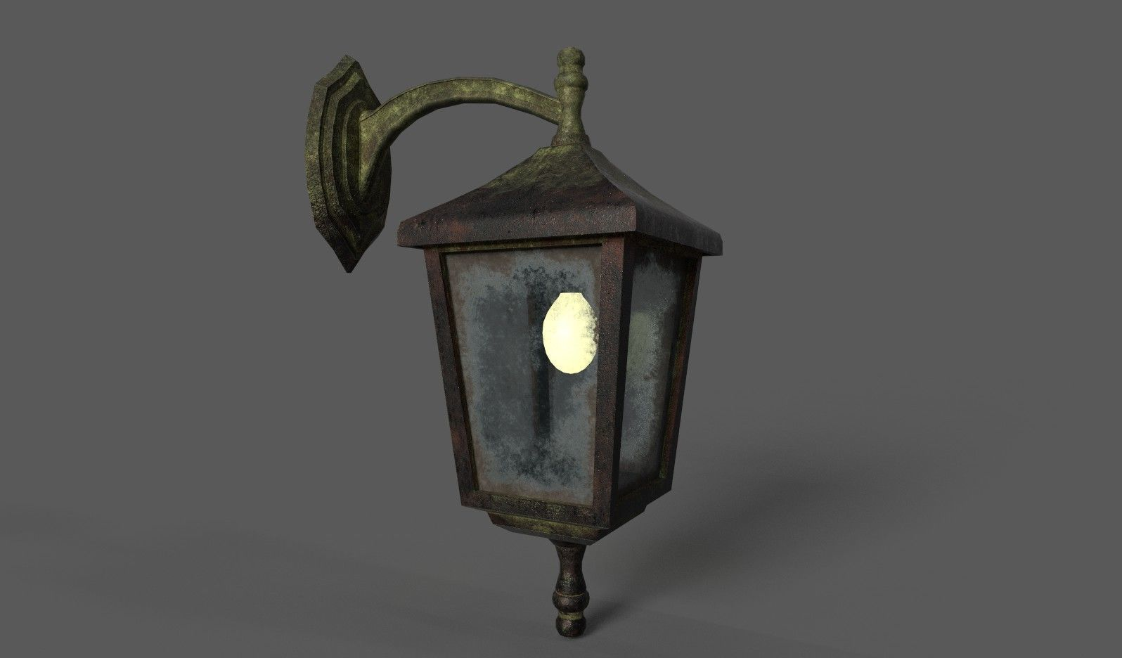 Old Rusted Outdoor Wall Lamp   3D model