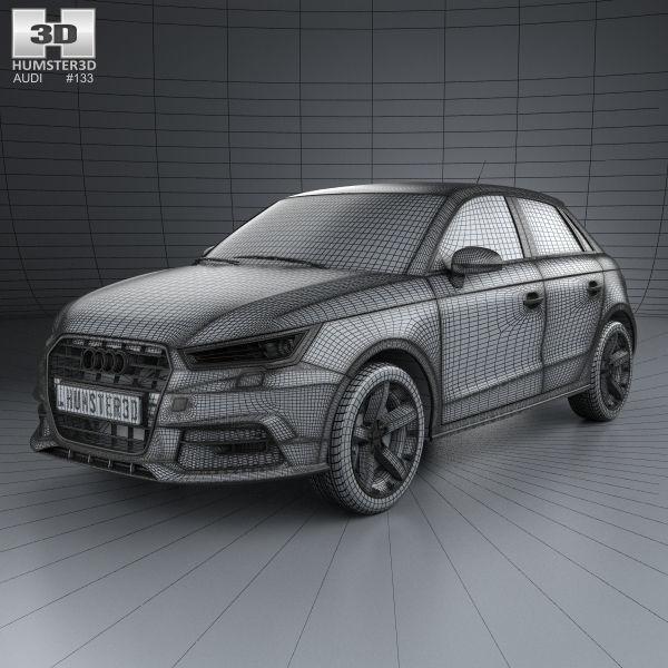 3d Car Audi A1 Sportback 2015 Cgtrader