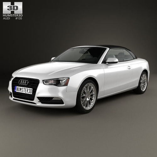 3D Audi A5 Cabriolet With HQ Interior 2012