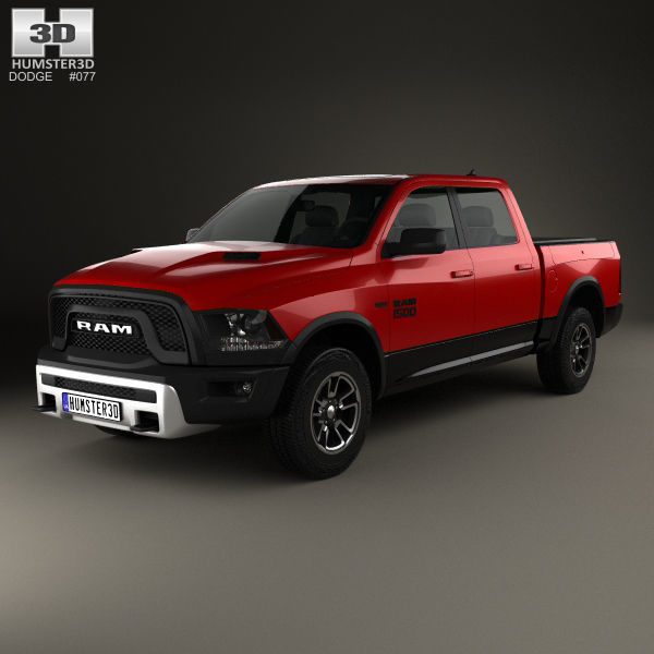 Dodge Ram 2015 >> Dodge Ram 1500 Rebel 2015 3d Model