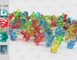 3D model Gummy Bears Animated
